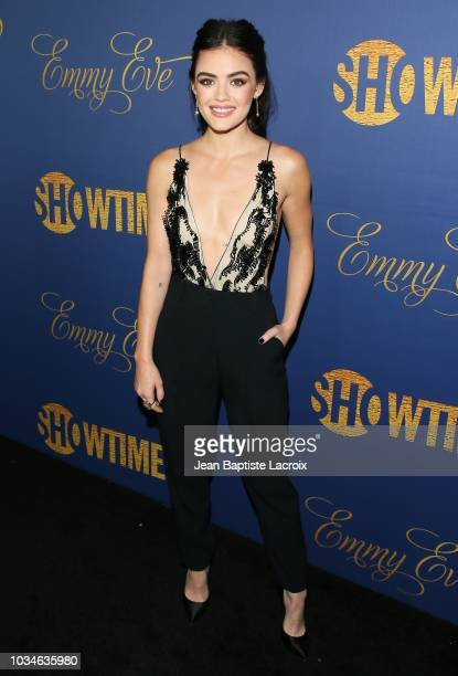 Lucy Hale attends the Showtime Emmy eve nominees celebration on September 16 2018 in Los Angeles California