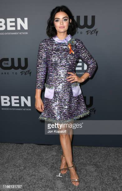 Lucy Hale attends the The CW's Summer 2019 TCA Party sponsored by Branded Entertainment Network at The Beverly Hilton Hotel on August 04 2019 in...