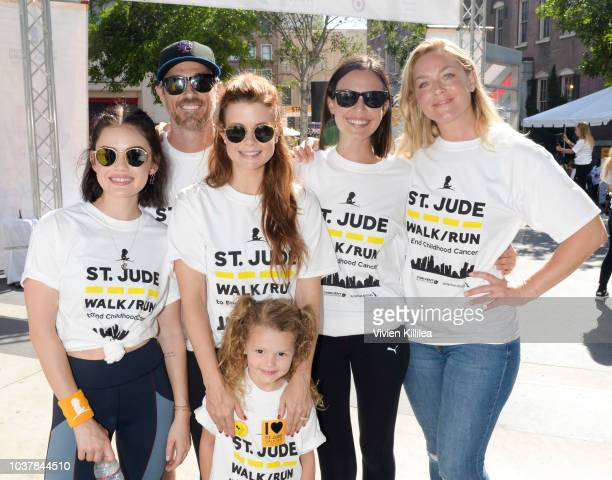 Lucy Hale Dave Annable JoAnna Garcia Swisher Sailor Swisher Odette Anable and Elisabeth Rohm attend StJude Walk/Run Hosted By Lucy Hale at Paramount...