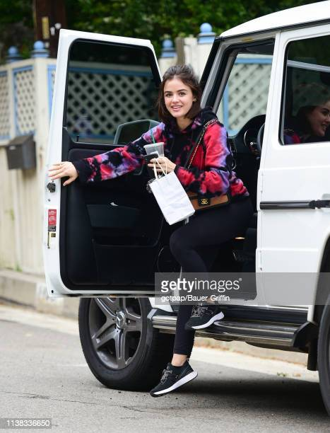 Lucy Hale is seen on April 20 2019 in Los Angeles California