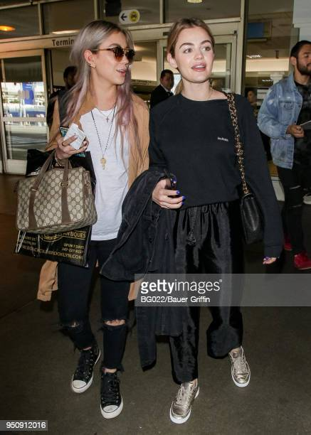 Lucy Hale is seen on April 24 2018 in Los Angeles California