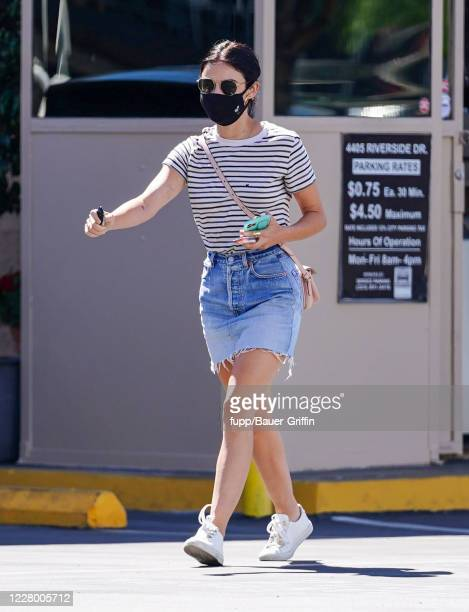 Lucy Hale is seen on August 11, 2020 in Los Angeles, California.
