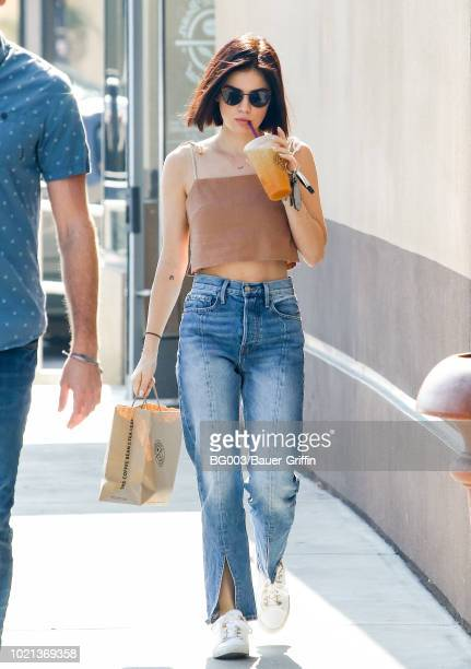 Lucy Hale is seen on August 22 2018 in Los Angeles California