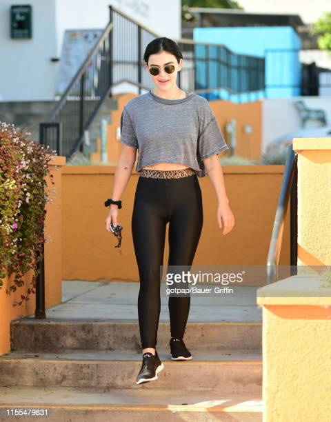 Lucy Hale is seen on July 13, 2019 in Los Angeles, California.