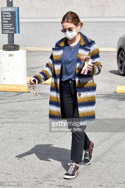 Lucy Hale is seen on March 11, 2021 in Los Angeles, California.