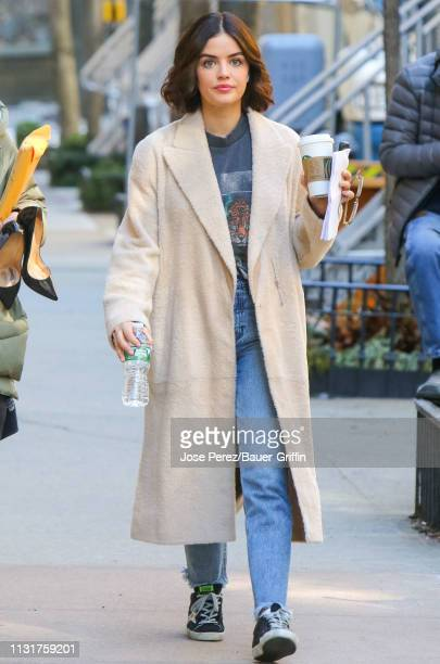 Lucy Hale is seen on March 20 2019 in New York City