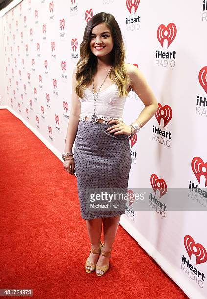 Lucy Hale poses backstage at iHeartRadio Country Festival held at The Frank Erwin Center on March 29 2014 in Austin Texas