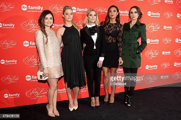Lucy Hale Sasha Pieterse Ashley Benson Shay Mitchell and Troian Bellisario attend the 'Pretty Little Liars' season finale screening at Ziegfeld...