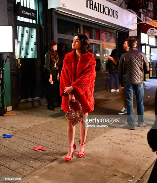 Lucy Hale seen filming on location for 'Katy Keene' in the Lower East Side on September 18 2019 in New York City