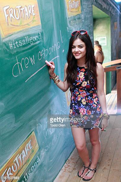 Lucy Hale stopped by the Fruttare Hangout at Coachella to share what keeps her looking on the bright side New Fruttare Fruit Bars are now available...