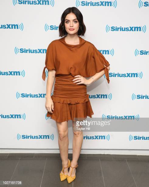 Lucy Hale visits the SiriusXM Studios on September 5, 2018 in New York City.