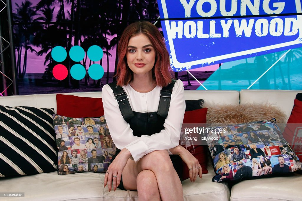 Lucy Hale And Tyler Posey Visit Young Hollywood Studio : News Photo