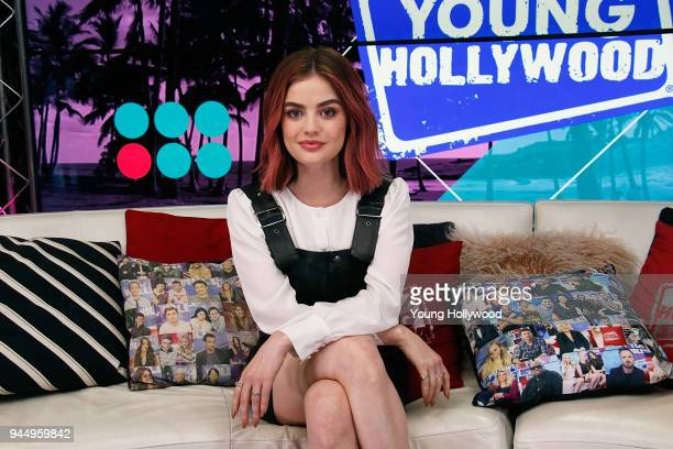 Lucy Hale visits the Young Hollywood Studio on April 11 2017 in Los Angeles California