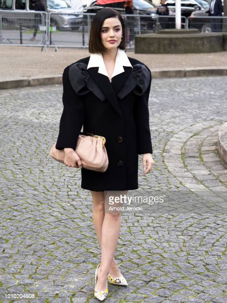 Lucy Hales is seen during Paris Fashion Week Womenswear Fall/Winter 2020/2021 on March 03 2020 in Paris France