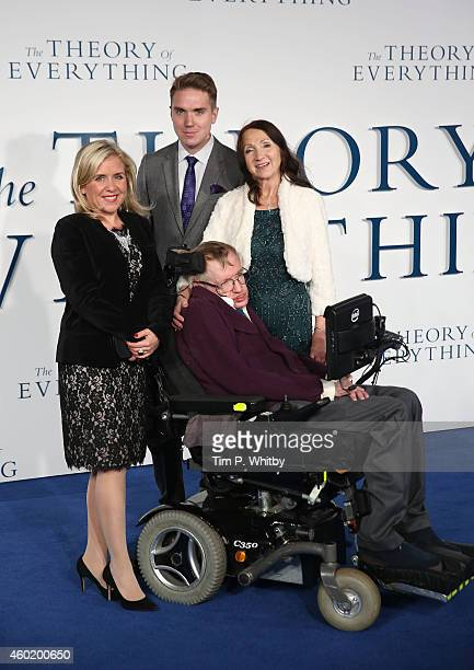 Lucy Hawking guest Jane Hawking and Professor Stephen Hawking attend the UK Premiere of The Theory Of Everything at Odeon Leicester Square on...