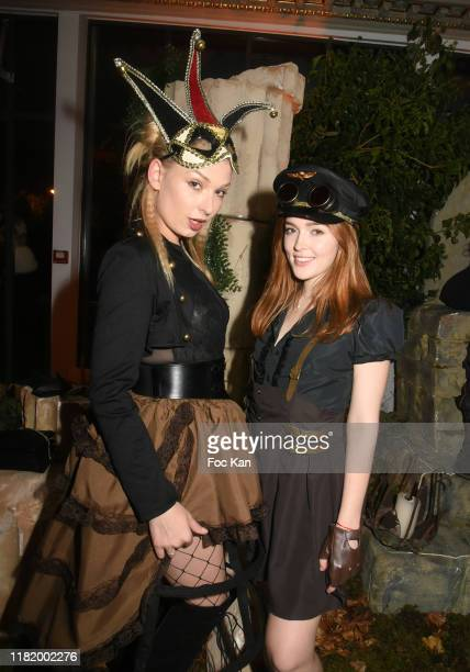 Lucy Heart and Jia Lissa attend the Bal Masque de Monsieur D At Pavillon d'Armenonville on October 18 2019 in Paris France