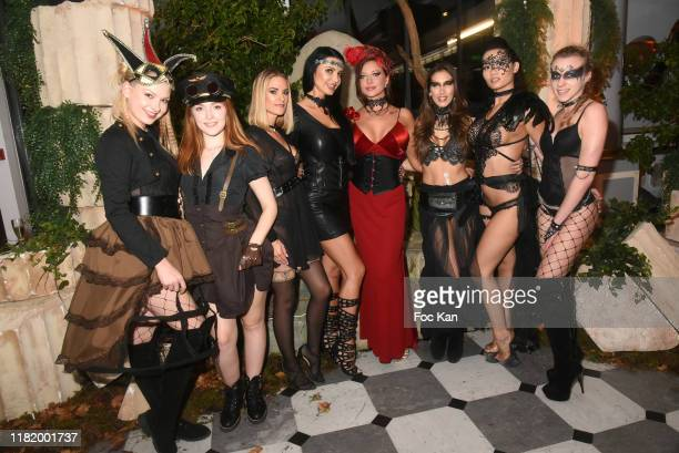 Lucy Heart Jia Lissa Claire Castel Ania Kinski Anna Polina Clea Gaultier Mailyne and Emily Angel attend the Bal Masque de Monsieur D At Pavillon...