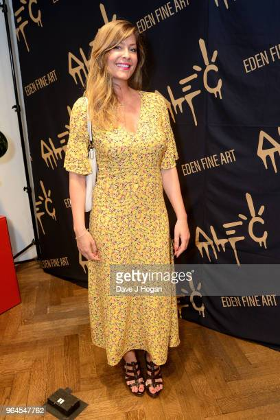 Lucy Horobin attends Alec Monopoly's 'Breaking the Bank on Bond Street' exhibition launch party at the Eden Fine Art Gallery on May 31 2018 in London...