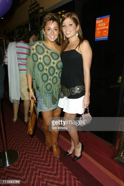 Lucy Jo Hudson and Nikki Sanderson during Charity Performance of 'Chicago' in Aid of Breakthrough Breast Cancer Arrivals at Adelphi Theatre in London...