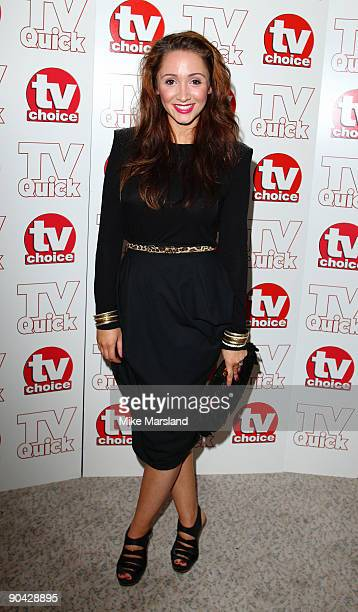 Lucy Jo Hudson attends the TV Quick Tv Choice Awards at The Dorchester on September 7 2009 in London England