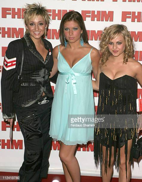 Lucy Jo Hudson Nikki Sanderson and Tina O'Brien during FHM Top 100 Sexiest Women 2004 at Guild Hall in London Great Britain