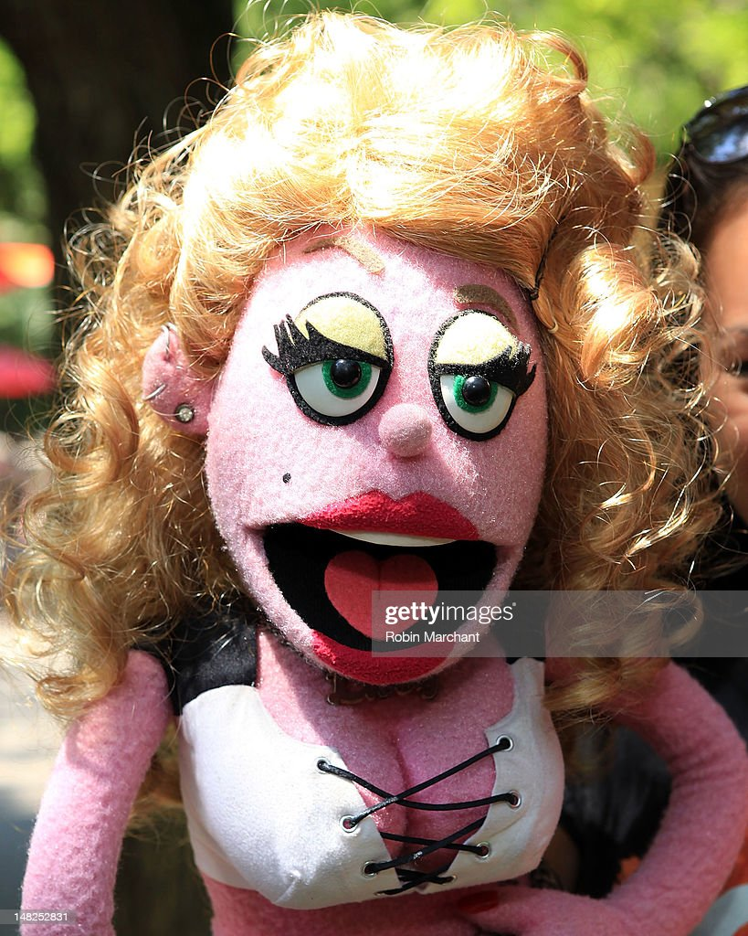 Lucy, Kate Lippstreu, of Avenue Q visits at Bronx Zoo on July 12, 2012 in New York City.