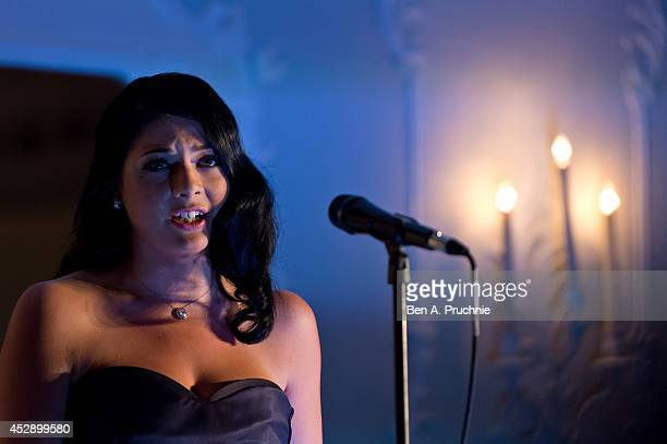 Lucy Kay performs during a showcase event at The Dorchester on July 29 2014 in London England