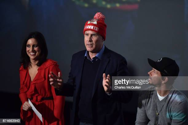 Lucy Kennedy Will Ferrell and Mark Wahlberg attend the Irish premiere of 'Daddy's Home 2' Odeon Cinema on November 15 2017 in Dublin Ireland