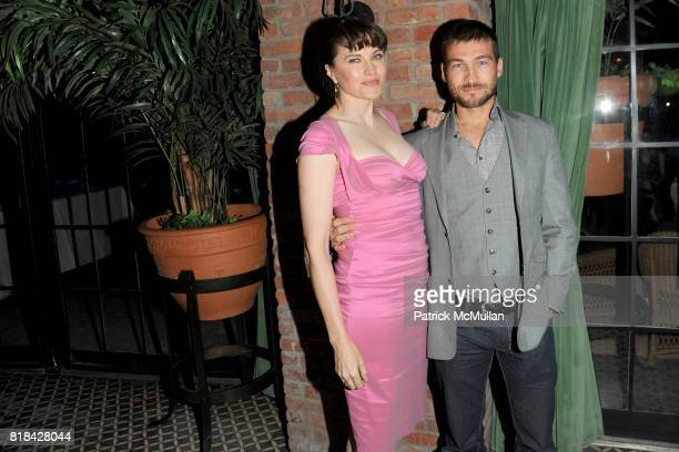 Lucy Lawless and Andy Whitfield attend THE CINEMA SOCIETY with JOHN AILEEN CROWLEY host the after party for 'EXTRAORDINARY MEASURES' at Bowery Hotel...
