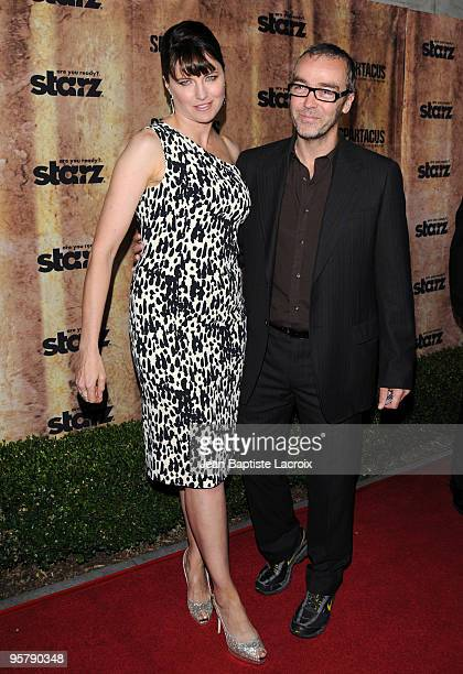 Lucy Lawless and John Hannah arrive at the Starz original TV series 'Spartacus Blood and Sand' at Billy Wilder Theater on January 14 2010 in Westwood...