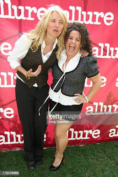 Lucy Lawless and Marissa Jaret Winokur during Allure On Location Los Angeles Debut Presented by Allure Magazine to Benefit Clothes Off Our Back at...