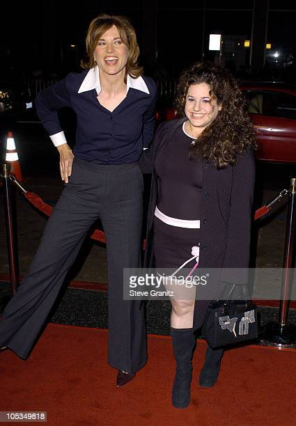 Lucy Lawless and Marissa Jaret Winokur during Eurotrip Premiere Arrivals at Grauman's Chinese Theatre in Hollywood California United States