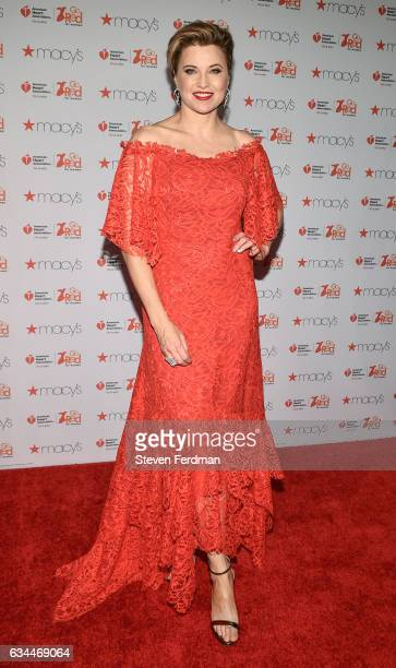 Lucy Lawless arrives at American Heart Association's Go Red For Women Red Dress Collection during New York Fashion Week at Hammerstein Ballroom on...