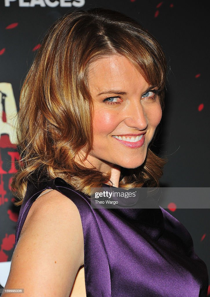 Lucy Lawless attends 'Spartacus: War Of The Damned' Series Finale Premiere at MOMA on January 24, 2013 in New York City.