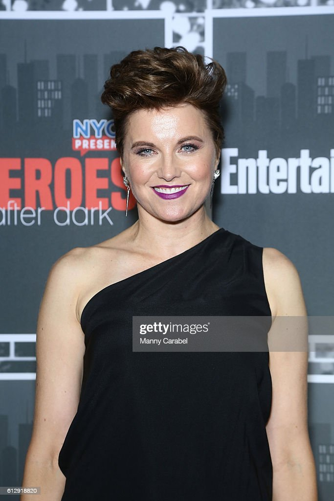 Lucy Lawless attends the Heroes After Dark New York Comic Con Kick-Off Red Carpet Celebration at Highline Ballroom on October 5, 2016 in New York City.