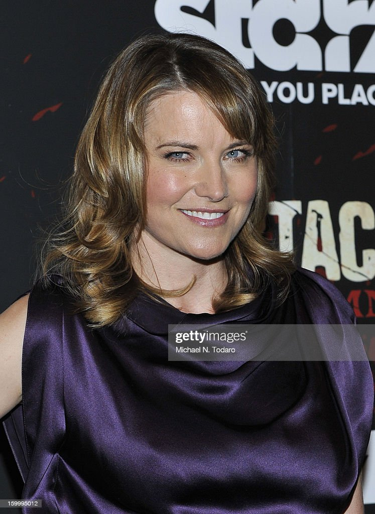 Lucy Lawless attends the 'Spartacus: War Of The Damned' series finale premiere at The Museum of Modern Art on January 24, 2013 in New York City.