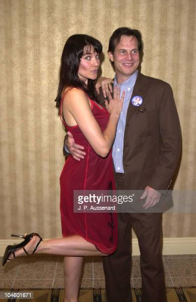 Lucy Lawless Bill Paxton during 27th Saturn Awards at Park Hyatt Hotel in Century City California United States
