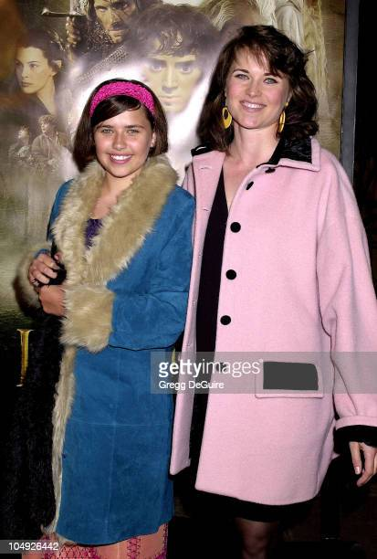 Lucy Lawless Daughter Daisy during 'The Lord Of The Rings The Fellowship Of The Ring' Los Angeles Premiere at The Egyptian Theatre in Hollywood...