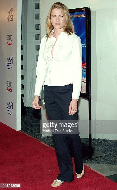 Lucy Lawless during AFI Fest 2005 'The World's Fastest Indian' Los Angeles Premiere Arrivals at Cinerama Dome Arclight in Hollywood California United...