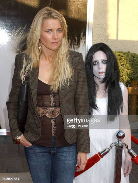 Lucy Lawless during 'The Grudge 2' Los Angeles Premiere Arrivals at Knott's Scary Farm in Buena Park California United States