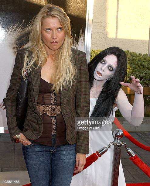 Lucy Lawless during The Grudge 2 Los Angeles Premiere Arrivals at Knott's Scary Farm in Buena Park California United States
