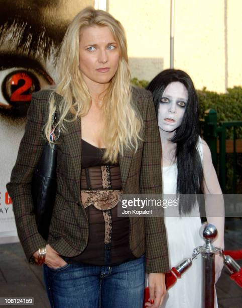 Lucy Lawless during The Grudge 2 Los Angeles Premiere Arrivals at Knott's Berry Farm in Buena Park California United States