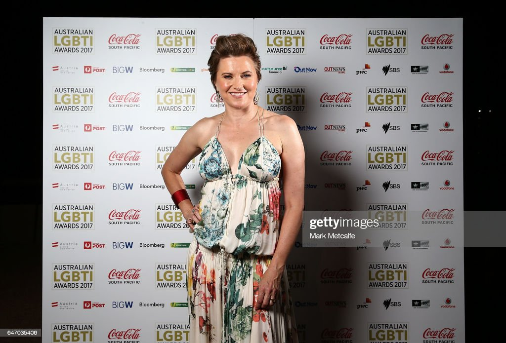 Lucy Lawless poses at the Australian LGBTI Awards 2017 at Sydney Opera House on March 2, 2017 in Sydney, Australia.