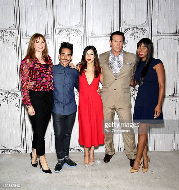 "Lucy Lawless, Ray Santiago, Dana DeLorenzo, Bruce Campbell, and Jill Marie Jones attend AOL BUILD presents ""Ash vs Evil Dead"" at AOL Studios In New..."
