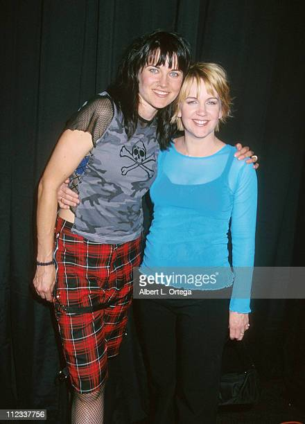 Lucy Lawless Renee O'Connor during The Official Xena Warrior Princess Convention at Pasadena Center in Pasadena California United States