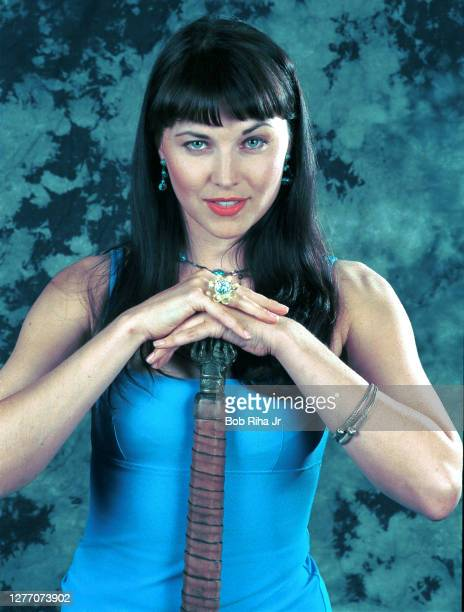 """Lucy Lawless stars in the syndicated series """"XENA the Warrior Princess"""" in photo taken January 12, 1997 in Los Angeles, California."""