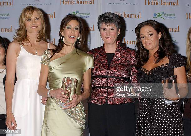 Lucy Lawless Teri Hatcher Diane Salvatore EditorinChief of Ladies' Home Journal and Leah Remini