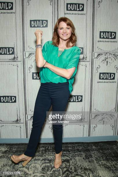 Lucy Lawless visits Build Studio on July 22, 2019 in New York City.