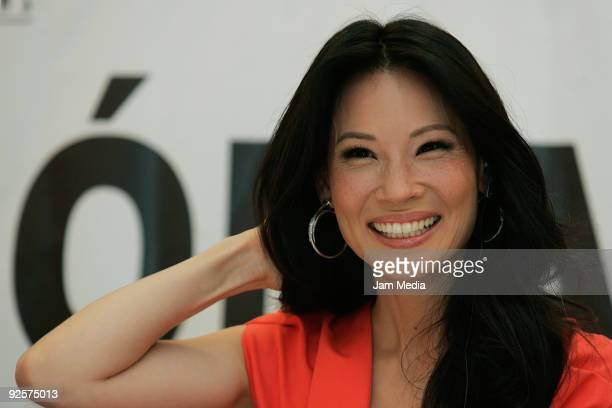Lucy Liu American actress of Chinese ancestry attends a press conference of the movie Nomada directed by Ricardo Benet on October 30 2009 in Mexico...