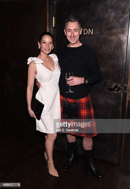 Lucy Liu and Alan Cumming attend Bruno Magli Presents A Taste Of Italy CoHosted By Food Wine Scott Conant on December 1 2015 in New York City